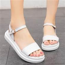 Summer Leather Ladies Flat Sandals Lady style shoes