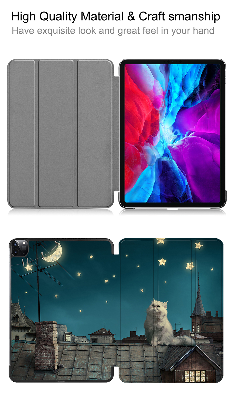 Flip PU A2233 inch Magnetic 12.9 iPad Case Stand Smart For MTT 2020 Leather Pro A2229