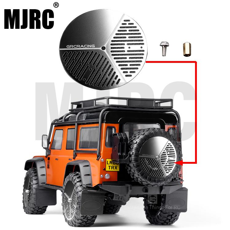 RC Car Stainless Steel Spare Tires Cover For 1:10 RC Rock Crawler Traxxas Trx-4 Bronco Defender Tactical Unit Axial SCX10 90046