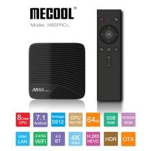 Mecool 3G RAM 16G ROM M8S פרו L טלוויזיה תיבת Amlogic S912 אוקטה Core 32ROM 4K HD BT אנדרואיד 7.1 קול שליטה חכם הטלוויזיה Box Media Player