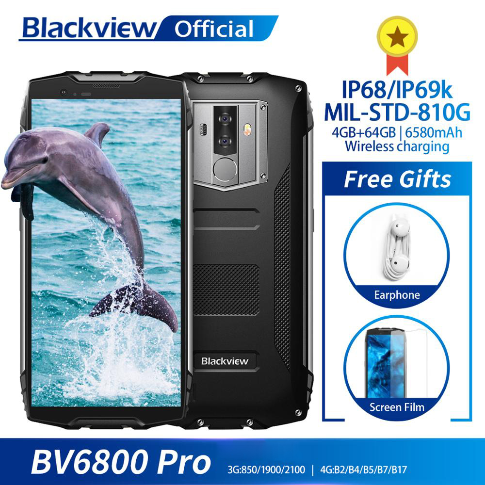"""Blackview BV6800 Pro Android 8 0 Outdoor Mobile Phone 5 7 MT6750T Octa Core 4GB 64GB Blackview BV6800 Pro Android 8.0 Outdoor Mobile Phone 5.7"""" MT6750T Octa Core 4GB+64GB 6580mAh Waterproof NFC Rugged Smartphone"""