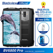 "Blackview BV6800 Pro Android 8.0 Outdoor Mobile Phone 5.7"" MT6750T Octa Core 4GB+64GB 6580mAh Waterproof NFC Rugged Smartphone(China)"