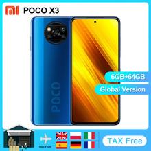 Xiaomi POCO X3 NFC globalna wersja Smartphone Android 64GB 128GB Snapdragon 732G 64MP kamera 5160mAh 6 67 #8222 120Hz 33W opłata tanie tanio Nie odpinany Inne CN (pochodzenie) Zamontowane z boku Rozpoznawania twarzy ≈64MP Szybkie ładowanie 3 0 USB-PD english