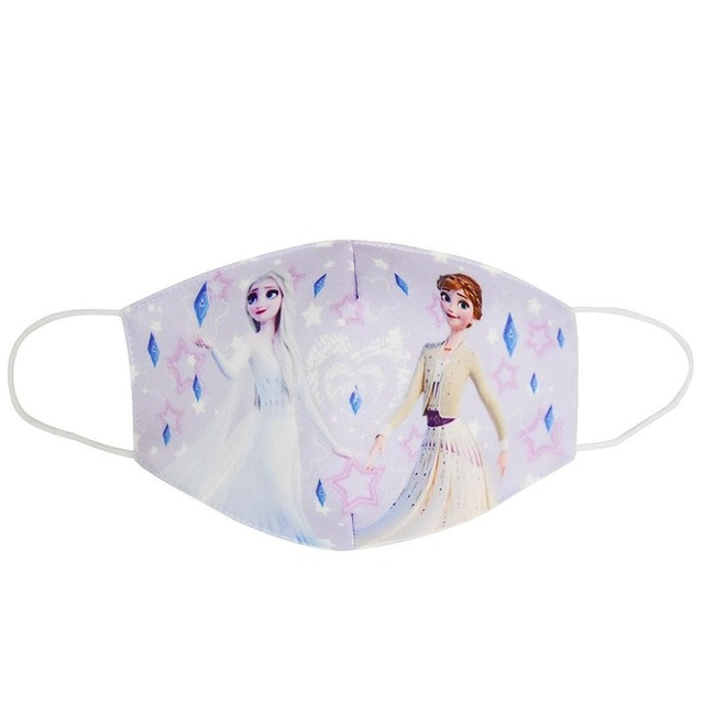 2020 New Disney Frozen Half Muffle Face Mask Adult Kids Cottons Dustproof Cartoon  Festive Party Respirator Mouth Masks Mouth 2