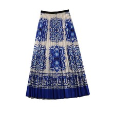 NiceMix New-Coming Spring autumn  A-Line High Street Style Print Women Skirts for Hoilday Skirt