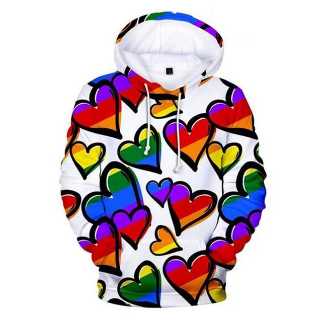 Colorful Rainbow LGBT Hoodies Sweatshirt Men Women For Lesbian Gay Pride LGBT Hoodie Fashion Casual Pullover Hooded Sweatshirts 6