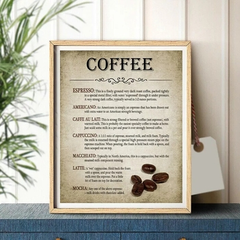 Offee Making Vintage Abstract Canvas Painting Home Art Posters Bedroom Corridor Stickers Nordic Decoration image