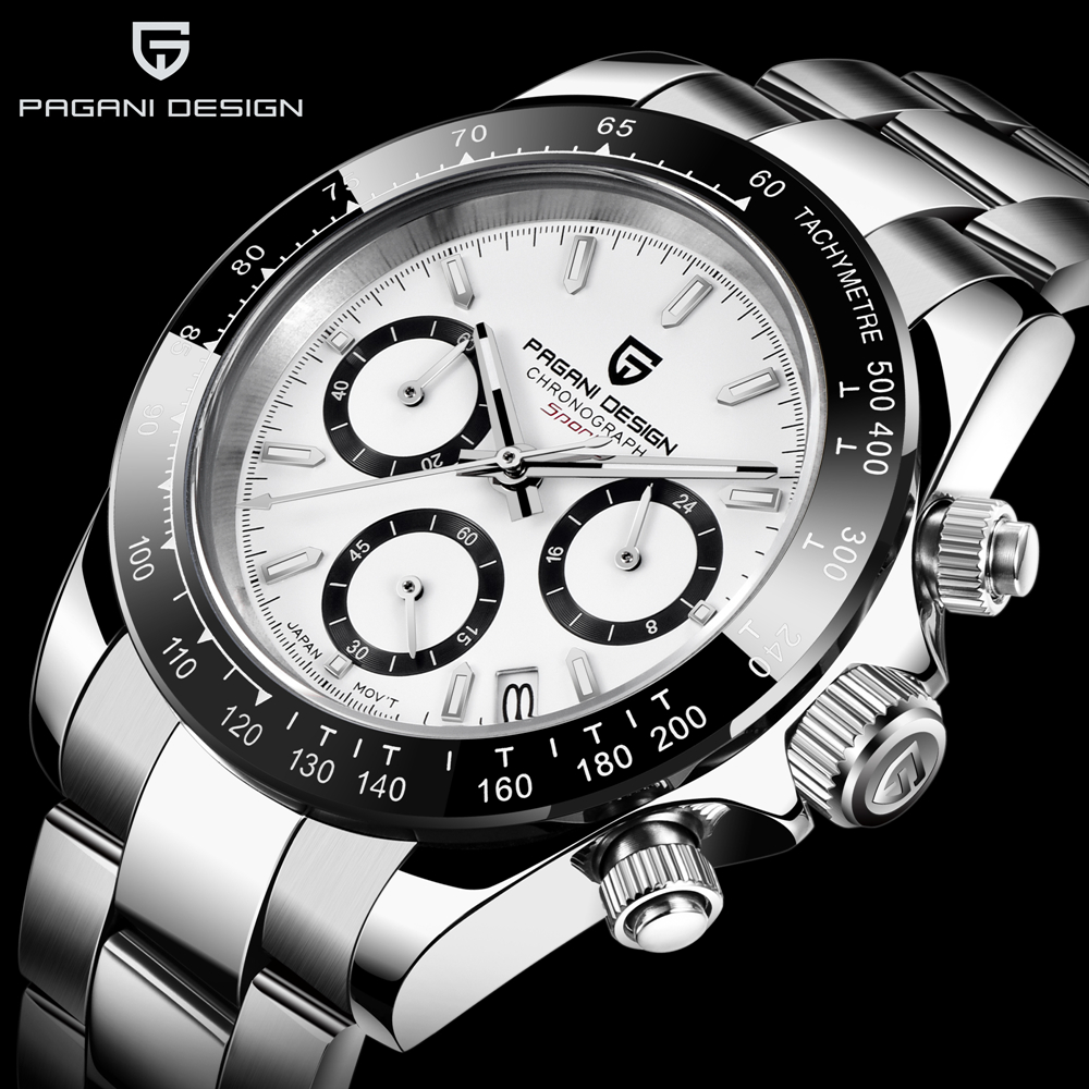 2020 New PAGANI DESIGN Brand Chronograph Sports Watches Mens Luxury Brand Quartz Waterproof Rolexable Watch Relogio Masculino