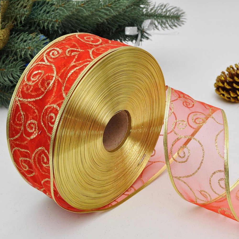 200X5CM Mooie Metallic Glitter Linten Voor DIY Ambachten Naaien Stof Christmas Party Bruiloft Benodigdheden Gift Wrap