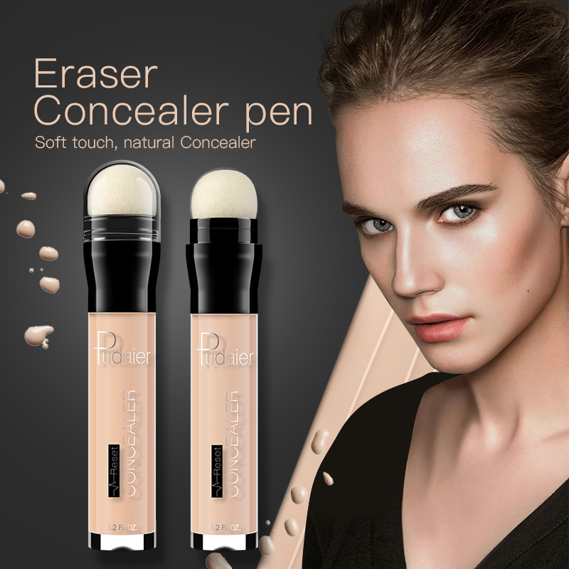 6color Face Foundation Concealer Eraser Pen Highlight Cream Stick Long Lasting Dark Circle Contour Concealer Women Make Up TSLM2