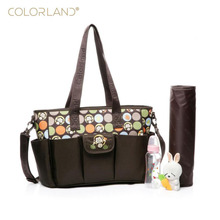 Colorland new Mummy bag multi-function large-capacity single shoulder slung waiting monkey pattern diaper