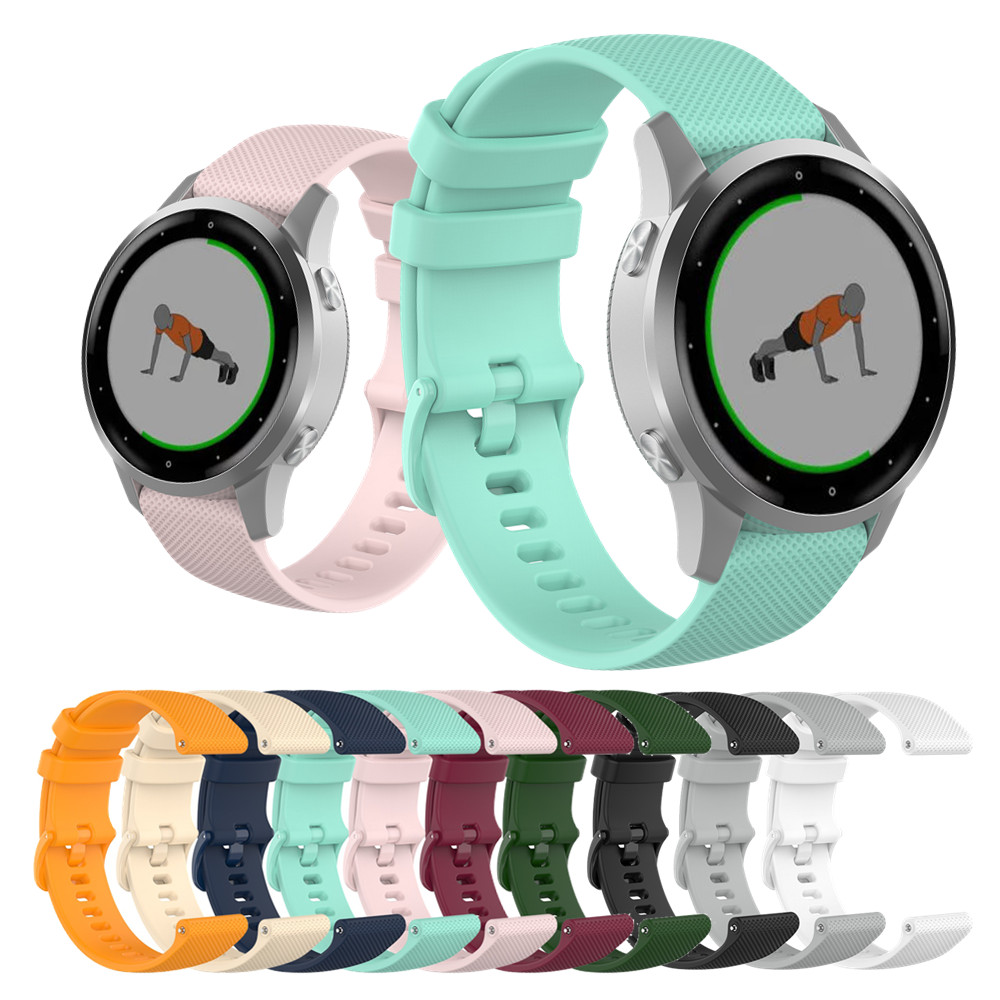 18 20 22mm Sport Silicone Wrist Strap For Garmin Vivoactive4S 4 3 Smart Watch Band For Vivoactive 3 4 4S Wristband Accessories