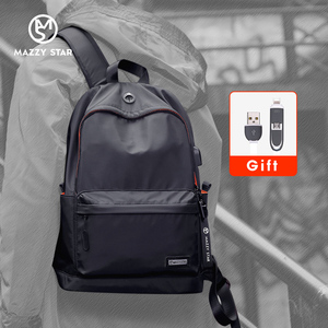 Image 1 - Mazzy Star Waterproof Backpack Men Casual Daypacks USB Charge Laptop Backpack Fits 15.6in Fashion Schoolbag Mochila Hombre 8018