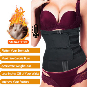 Image 4 - Neoprene Sweat Sauna Waist Trimmer Belt Abdominal Trainer Corset Fat Burner Sport Girdles Tummy Body Shaper Postpartum Recovery