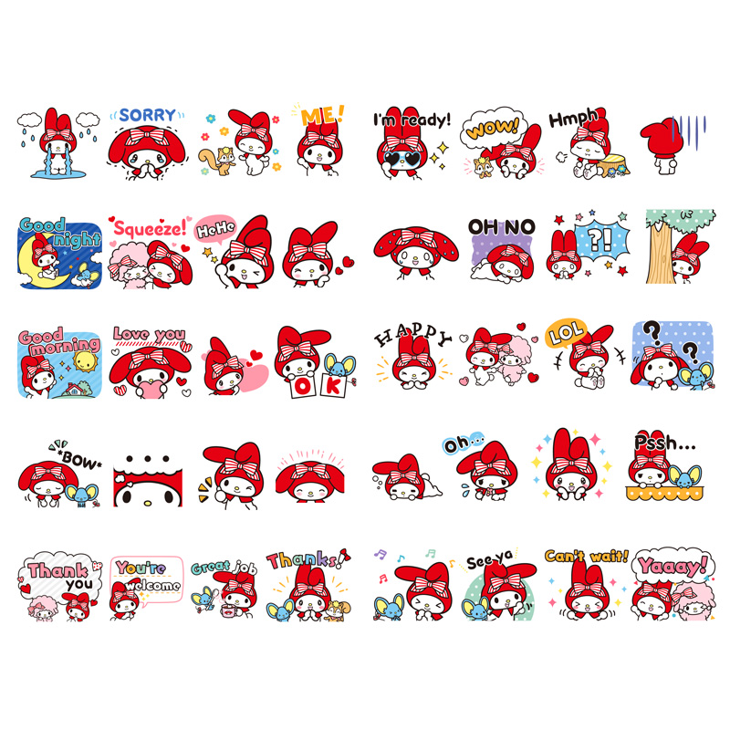 1 PCS Kawaii Japan Sanrio My Melody Paper Sticker Stationery Scrapbooking Diary Label Office Post Bullet Journal Art Supplies(China)
