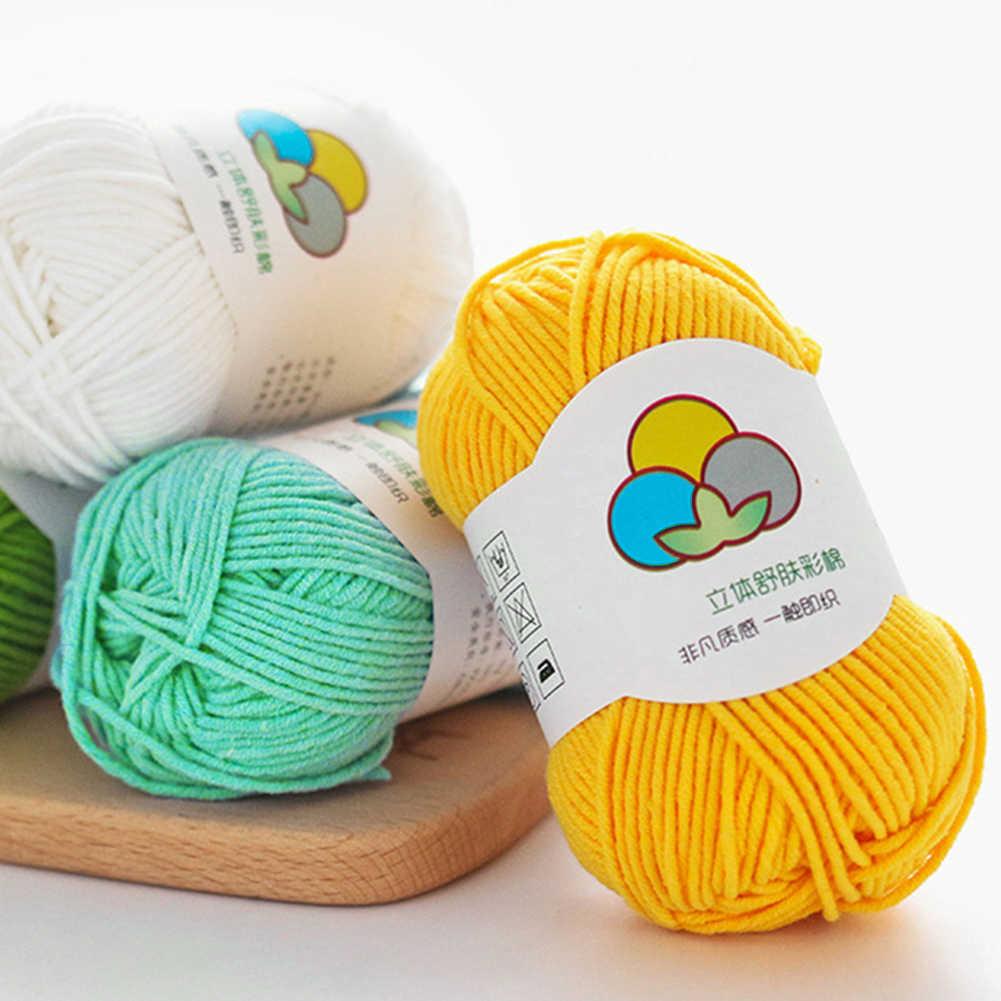Yeni 100m 30 renk sıcak DIY süt pamuk ipliği bebek yün iplik örgü için çocuk el örme iplik örme battaniye tığ iplik
