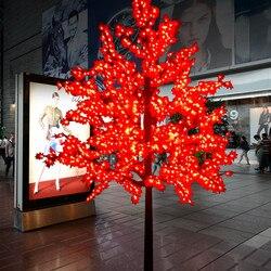 Im freien Wasserdichte Künstliche 1,5 M Led Ahorn blätter Baum Lampe 1,8 M Weihnachten Baum Licht für Home Festival Dekoration Kostenloser schiff