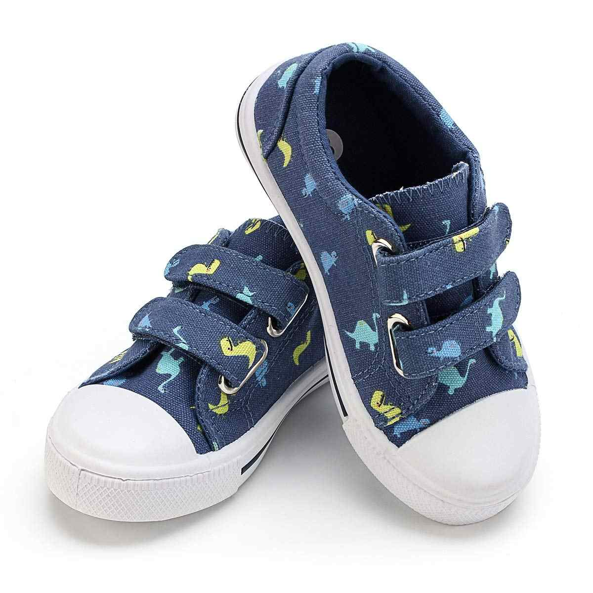 KushyShoo Kids Toddler Sneakers Cartoon Dual Hook and Loops Boys Sneakers Shoes Canvas Shoes Children