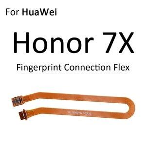 Image 5 - Touch Id Vingerafdruk Connector Scanner Sensor Thuis Return Key Menu Knop Verbinding Flex Voor Huawei Honor Play 7X 7C 7A pro