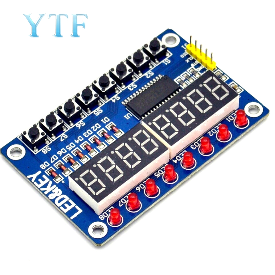 TM1638 Module Key Display For AVR Arduino New 8-Bit Digital LED Tube 8-Bit WAVGAT