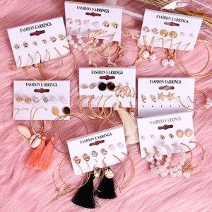 Vintage Tassel Acrylic Earrings For Women Bohemian Earrings Set Big Dangle Drop Earring 2020 Brincos Female Fashion Jewelry