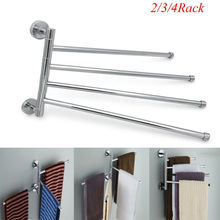 2019 New Stainless Steel Towel Bar Rotating Rack Bathroom Kitchen Storage Kit Bars
