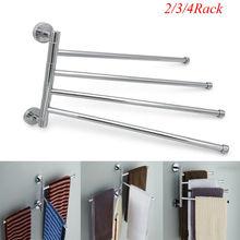 2019 New Stainless Steel Towel Bar Rotating Rack Bathroom Kitchen Storage Kit Bars