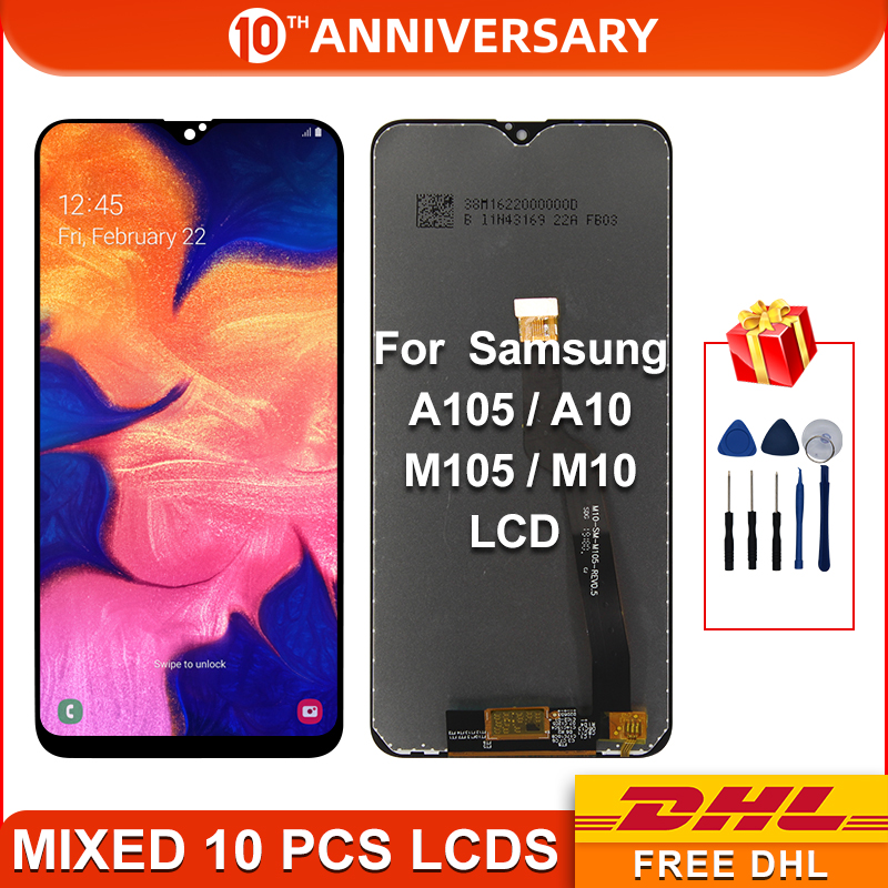 For Samsung Galaxy A10 A105 A105F LCD Display Touch Screen Digitizer Assembly With Frame Replacement Repair Parts For M10 LCD title=
