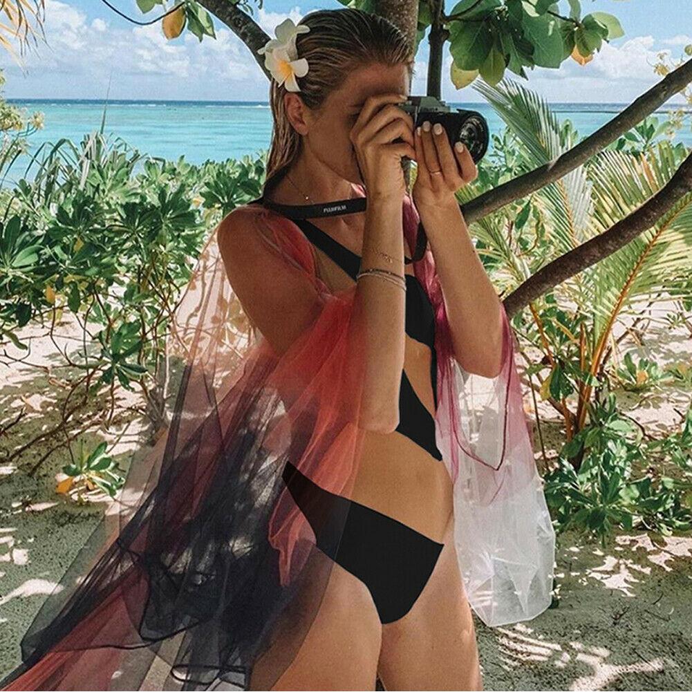 2019 Fashion Trend Women's One Piece Beach Swimsuit Swimwear Bathing Monokini Push Up Padded Bikini Hot Summer Sexy Holiday Wear-1