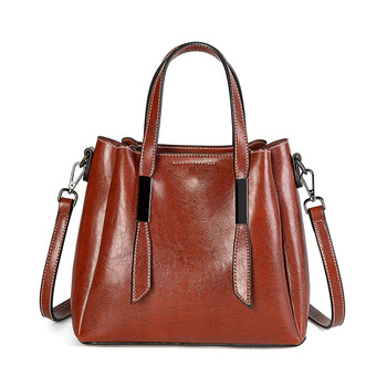 Vintage Handbags for Women Genuine Leather Shoulder Bag Female Crossbody Hobos Bag Ladies Tote 2019 Designer Crossbody C1220 фото