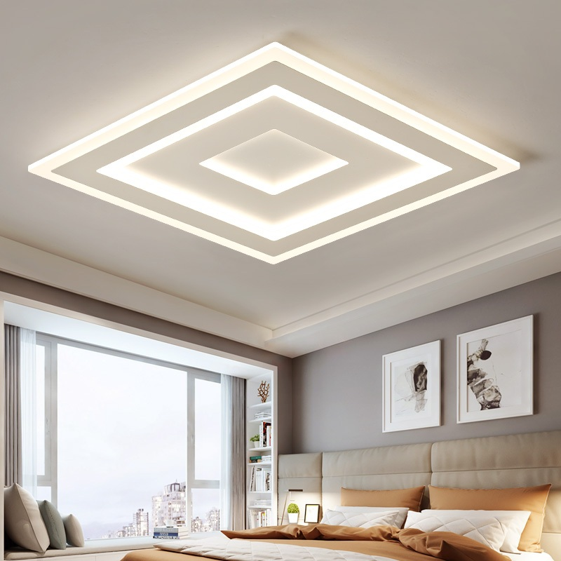 Ultra-thin Surface Mounted Modern Led Ceiling Lights Indoor lighting Rectangle acrylic / Square Ceiling lamps Lighting fixture