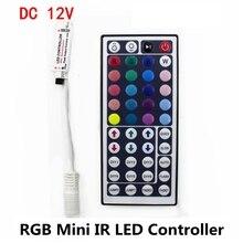 DC 5V 12V 24V 6A 44Key RGB Mini IR Remote LED Controller Driver Dimmer For RGB LED Strip 2835 3528 5050 5730 5630 3014