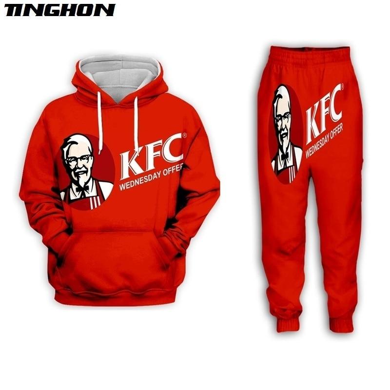 XS-7XL New Men/Womens KFC Colonel Funny 3D Print Casual Fashion Hoodies/Sweatpants Hip Hop Tracksuits