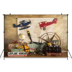 Image 5 - خلفية طائرة عيد الميلاد الأول للأولاد ، للتصوير الفوتوغرافي ، والطائرات ، وحديثي الولادة ، وخلفية صور الاستوديو