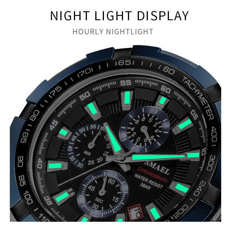 Relojes de hombre SAMEL, relojes cronógrafo impermeables para hombre, 2019, reloj de pulsera deportivo de cuarzo de marca grande de lujo, reloj Masculino 9063