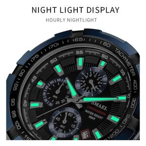 Image 4 - SMAEL Uhren Männer 2020 Top Marke Luxus Quarz Uhren Große Zifferblatt Wasserdicht Chronograph Sport Armbanduhr Relogio Masculino 9063
