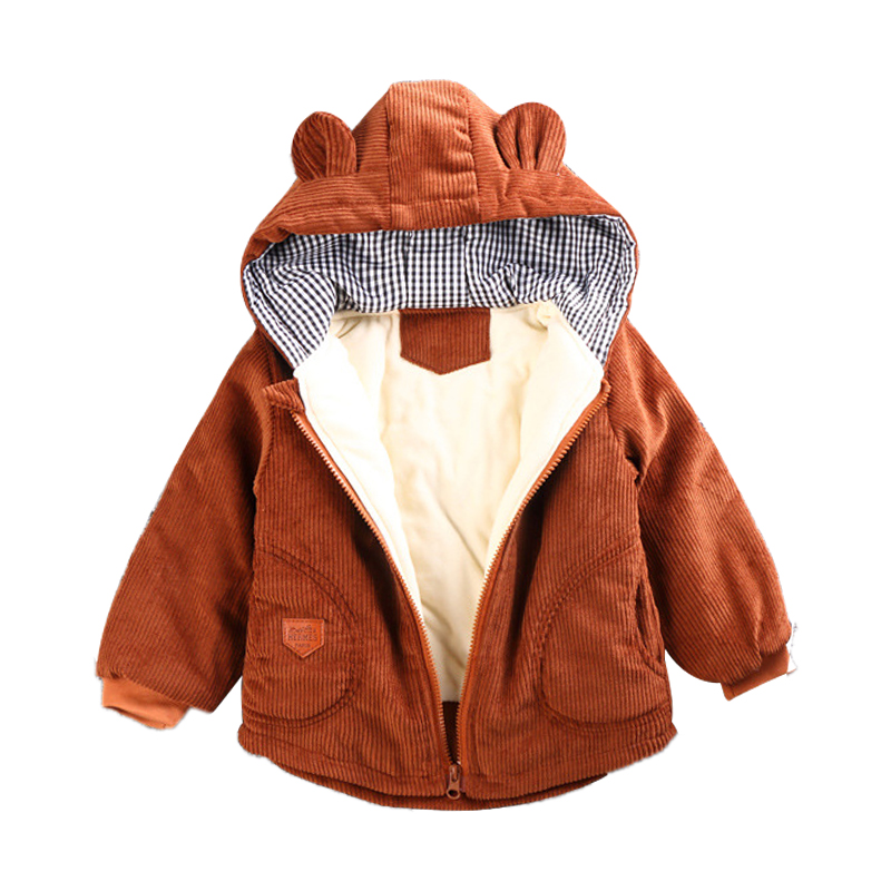 Hbde380804aa34fa3942bf406709ef4d4F - Winter New Baby Boy and Girl Clothes,Children's Warm Jackets,Kids Sports Hooded Outerwear 3 Colors