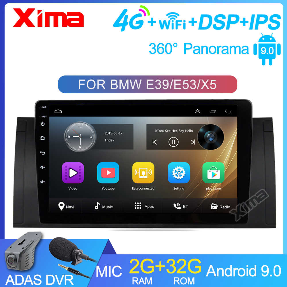 Xima DSP Android 9.0 2GB RAM Mobil Dvd Multimedia Player untuk BMW X5 E53 E39 2din Android Mobil Stereo 4G Wifi 2Din Radio Mobil