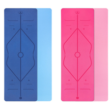 Quality TPE Yoga Double Layer Non-slip Mat Exercise Pad With Position Line For Gymnastics Fitness and Pilates