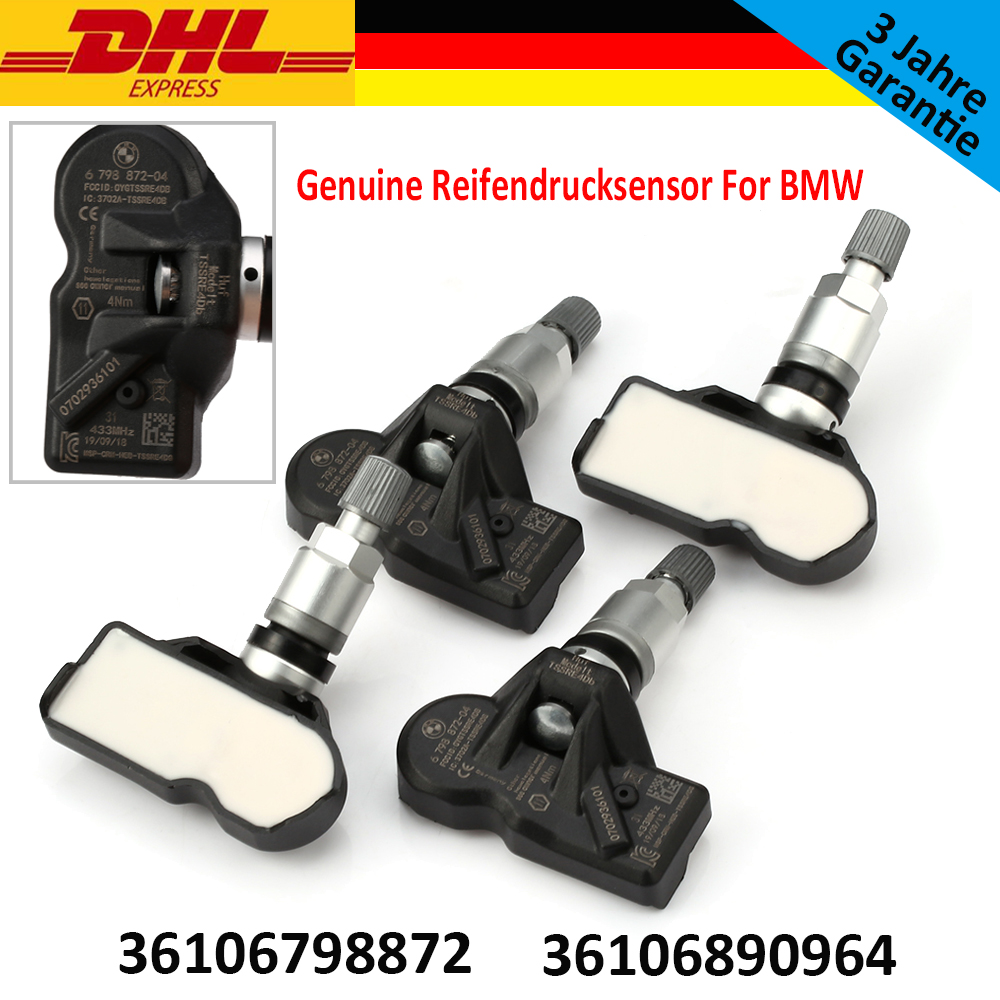 4pcs NEW GENUINE For BMW RDCi Tyre Pressure Sensor 36106798872, 36106874830, 36106890964
