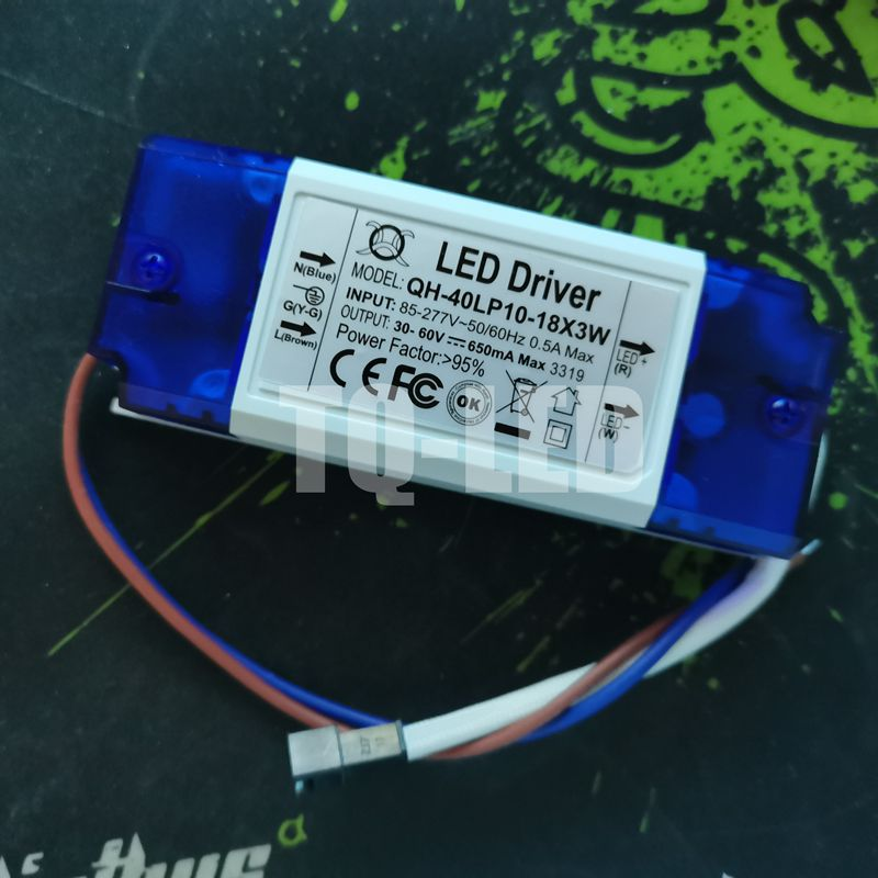 12-18x3W Constact Current Led Driver AC85-277V DC30-60V 650mA