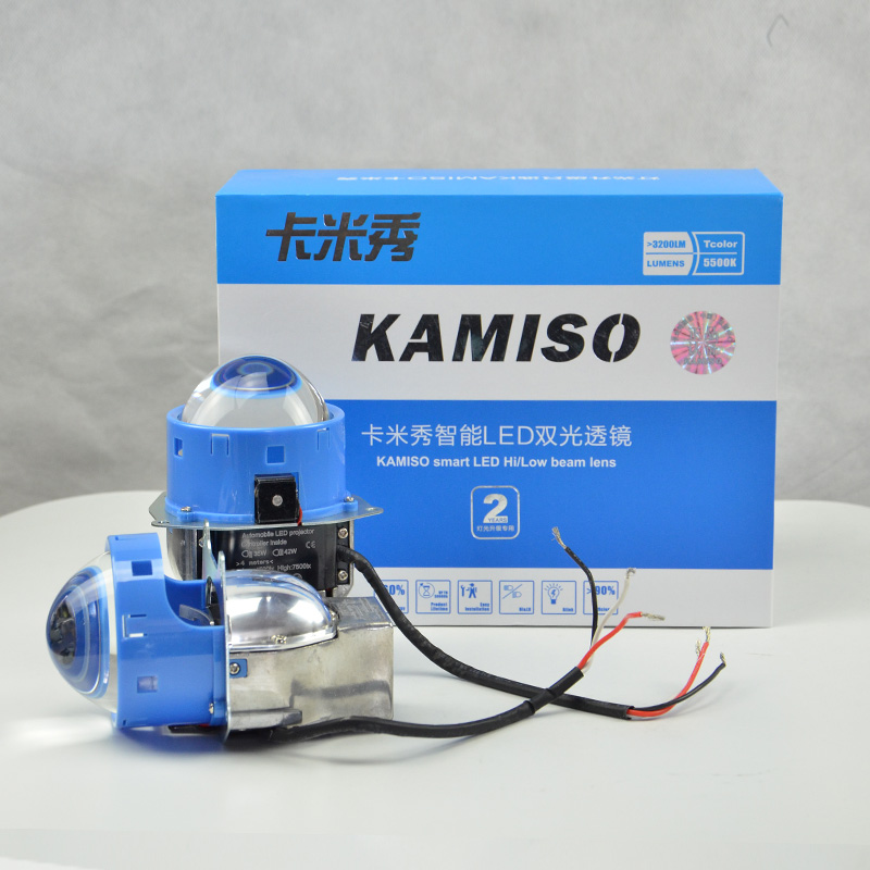 KAMISO LED High/Low Beam Lens 3 Inch Sharp Cutline Projector Left Hand Drive Don't Need LED H1H7 Or Other Bulbs Projector