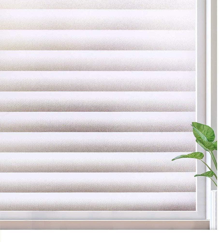 Film auto-adhésif de Film de fenêtre de confidentialité pour la salle de bains, autocollant de fenêtre amovible pour la sécurité à la maison, revêtement de fenêtre Opaque Anti-UV