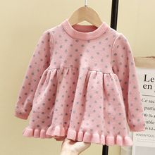 Baby Girl Winter Clothes 2019 Sweater Polka Dot Knit Dress Clothing