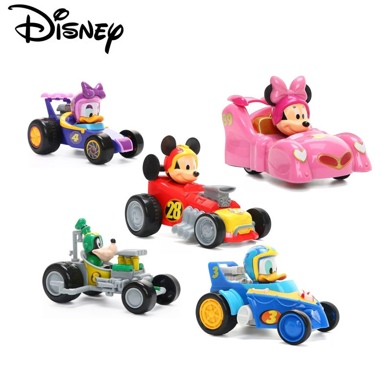 Disney Pixar  New Car Mickey Minnie Mouse Plastic Top-grade Toy Car Children's Toys Birthday Gift Christmas Gift