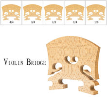 Violin Bridge 4/4 3/4 1/2 1/4 1/8 Baroque Violin Bridge Standard Maple Wood Bridge Violin Use violin stand holder for full size 4 4 3 4 1 2 1 4 plastic foldable extended sponge pad violin parts