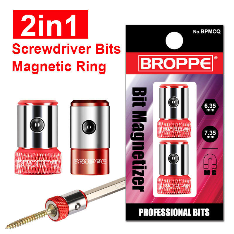 2in1 Screwdriver Bits Magnetic Ring 1/4