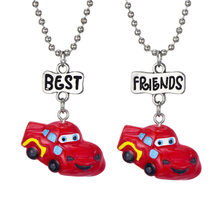 4 Styles Toy Car Boy Pendant Necklace Long Miniature Friendship Beads Chain Jewelry For Children(China)