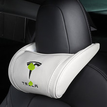 1pc assento dianteiro pescoço encosto de cabeça travesseiro lombar proteger almofada memória algodão voltar apoio travesseiro para tesla modelo x modelo s modelo 3