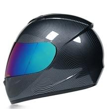 Casque de moto coupe vent, résistant au froid, spectacle de personnalité, Scooter Crash, équipement de protection pour moto, hiver, visage complet Abs unisexe